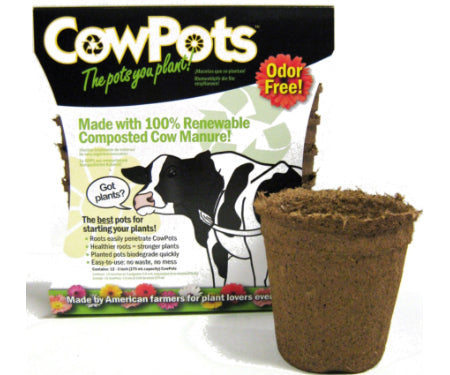 "CowPots Round 3.25"" dia. - 12 pack"