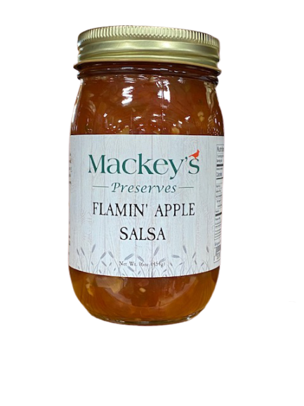 Mackey's Preserves, Flamin' Apple Salsa, 16oz
