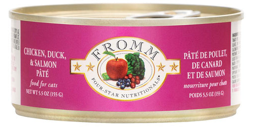 Fromm Four Star Chicken, Duck & Salmon Pate Cat Food Can