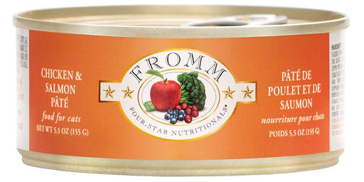 Fromm Four Star Chicken & Salmon Pate Cat Food Can