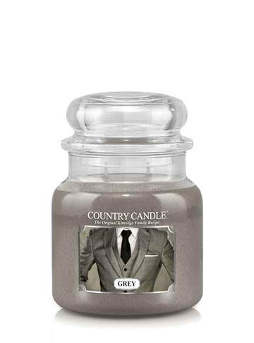 Country Candle by Kringle, Grey, 2-wick Jars