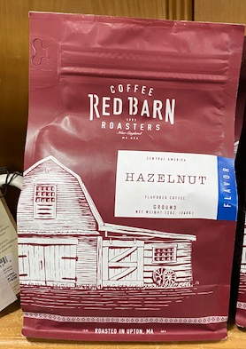 Red Barn Coffee Roasters, Hazelnut, Ground, 12oz