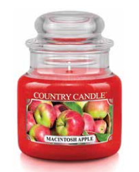 Country Candle by Kringle, Macintosh Apple, 3.7oz Mini Jar