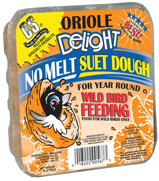 Oriole Delight No Melt Suet Dough, 11.75oz