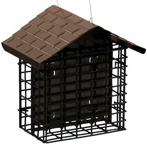 Double Suet Bird Feeder With Metal Roof
