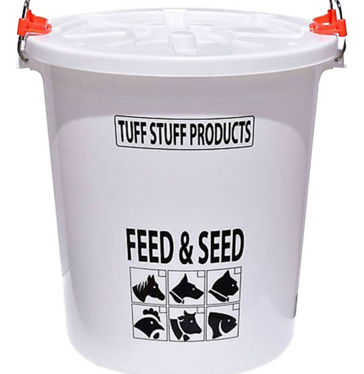 Tuff Stuff Feed and Seed Storage Drum with Locking Lid