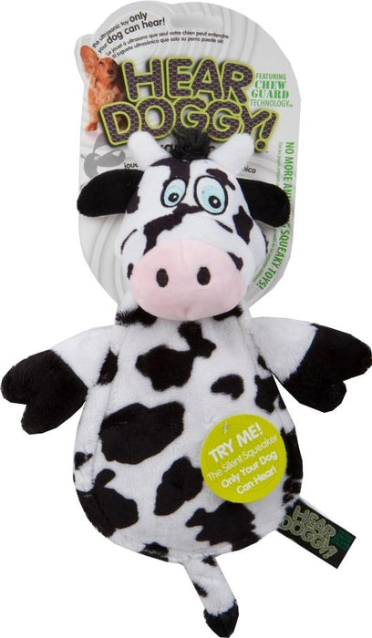 HEAR DOGGY FLATTIE COW WITH CHEW GUARD