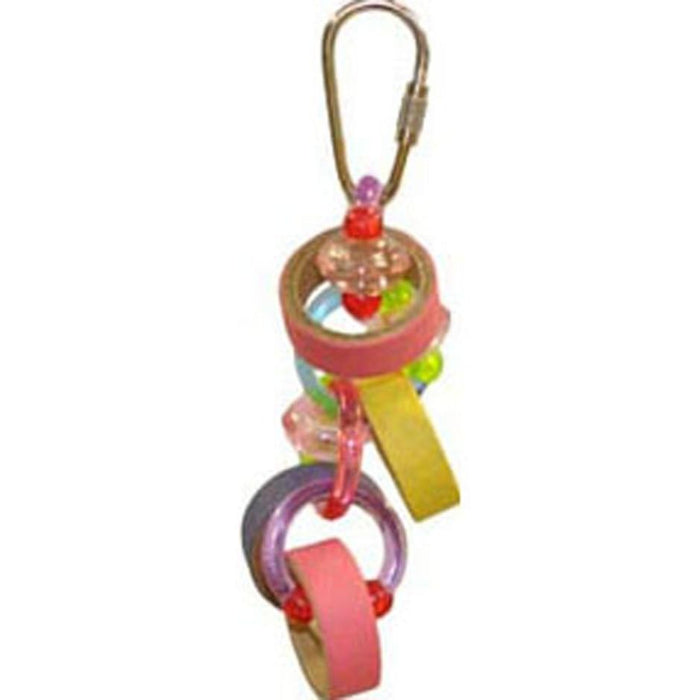 HAPPY BEAKS KEET RINGS BIRD TOY