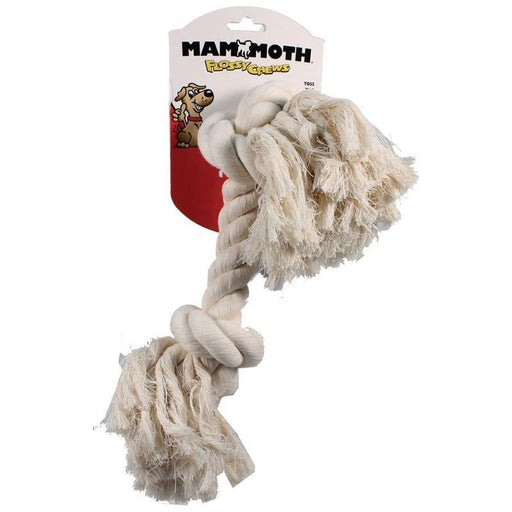 MAMMOTH FLOSSY CHEWS COTTON ROPE BONE