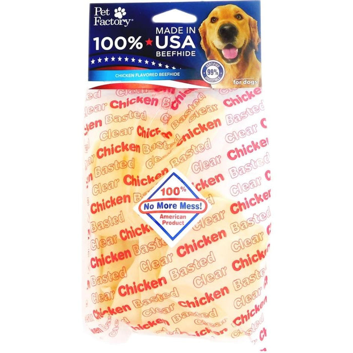 Pet Factory USA Beefhide Clear Basted Chips