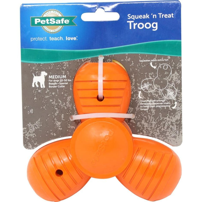 SPORTSMEN SQUEAK N TREAT TROOG DOG TOY