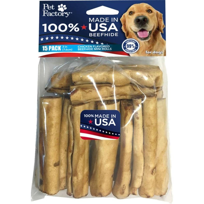 Pet Factory USA Chicken Beefhide Chip Rolls