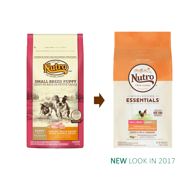 Nutro Wholesome Essentials Small Breed Puppy Dry Dog Food Farm-Raised Chicken, Brown Rice, & Sweet Potato Recipe