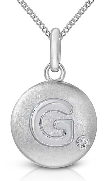 Pure at Birth letter G pendant with necklace