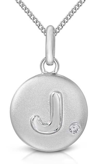 Pure at Birth letter J pendant with necklace