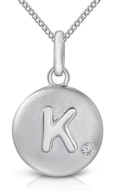 Pure at Birth letter K pendant with necklace