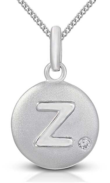 Pure at Birth letter Z pendant with necklace