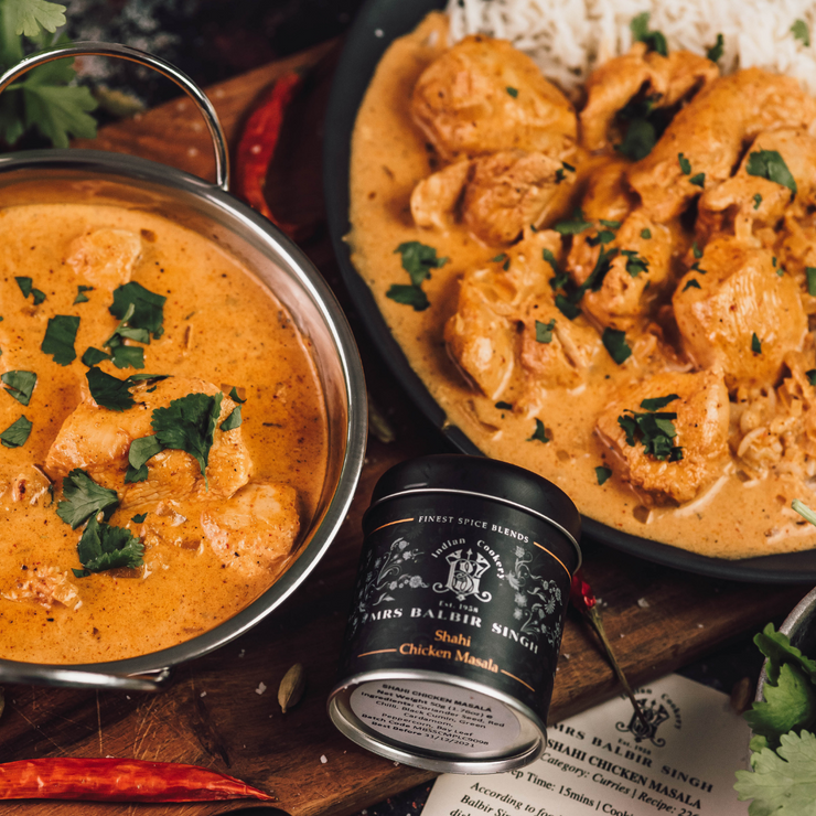 2-PACK: SHAHI CHICKEN MASALA & ORIGINAL GARAM MASALA - Gourmet Indian Spice Blends by Mrs Balbir Singh's Indian Cookery