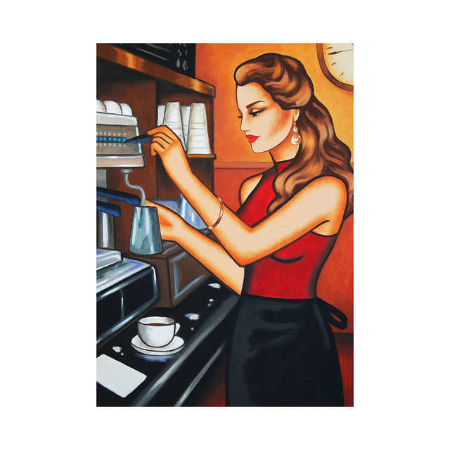 """Afternoon Coffee"", 70x50cm"