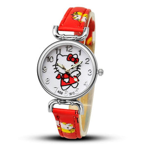 hello dress watch saat clock kitty silicone baby pink cute products enfant wrist relogio kids cartoon girls watches child montre grande children