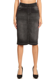 Debbie Jean Skirt-Black Wash