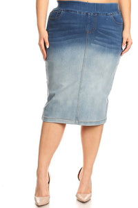 Debbie Jean Skirt-Blue Blush/Wash