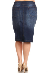 Debbie Jean Skirt- Dark Wash