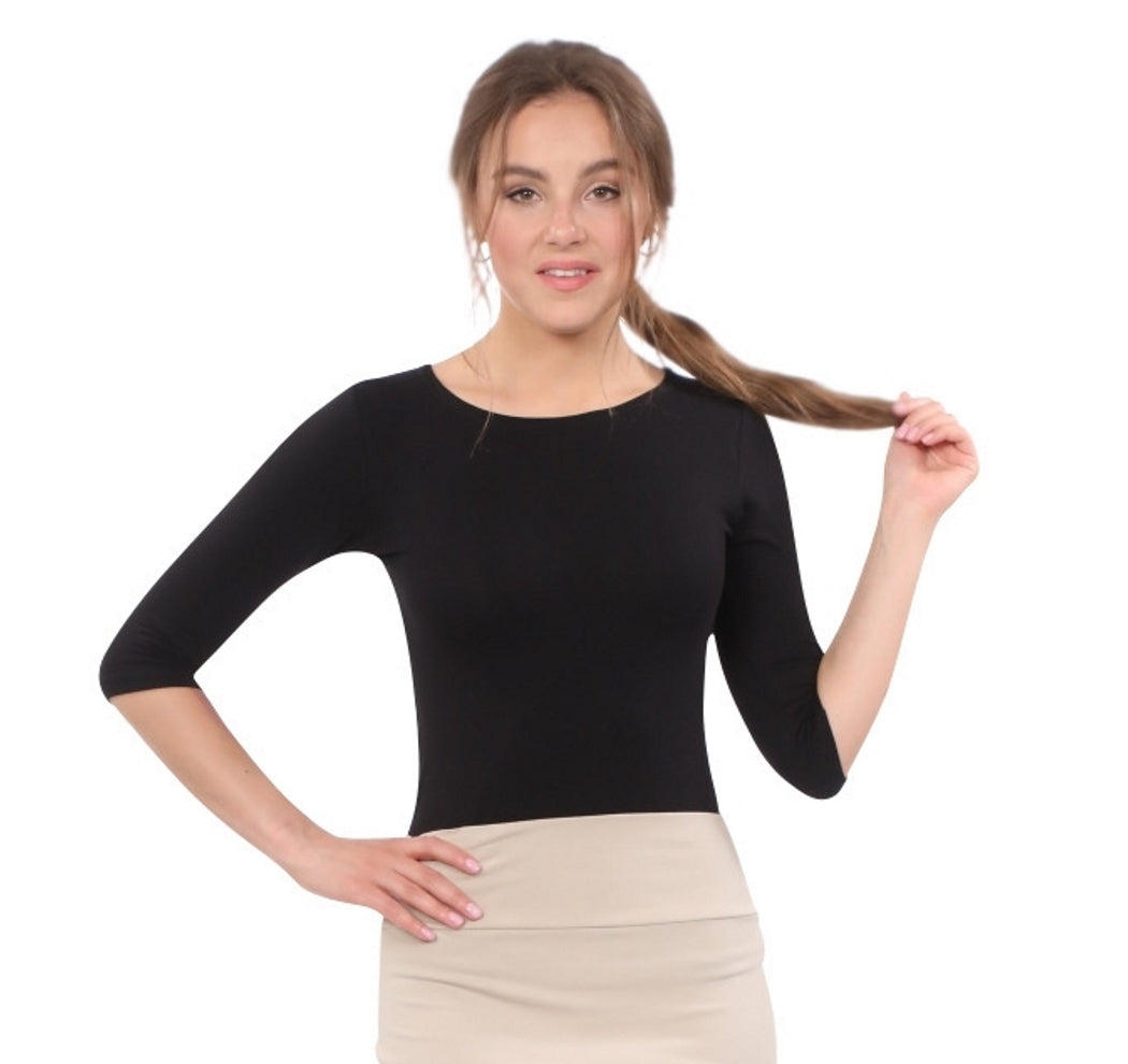 Janice Layering Top-3/4 Length Sleeves