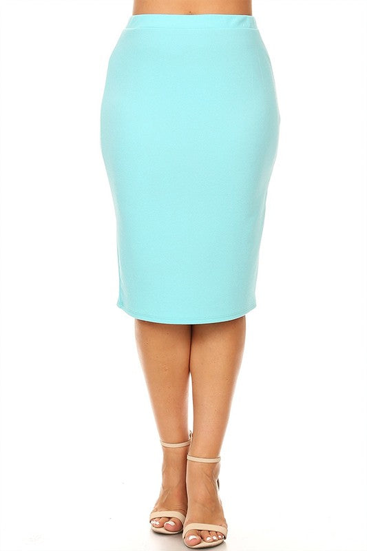 Laura Mint Pencil Style Skirt