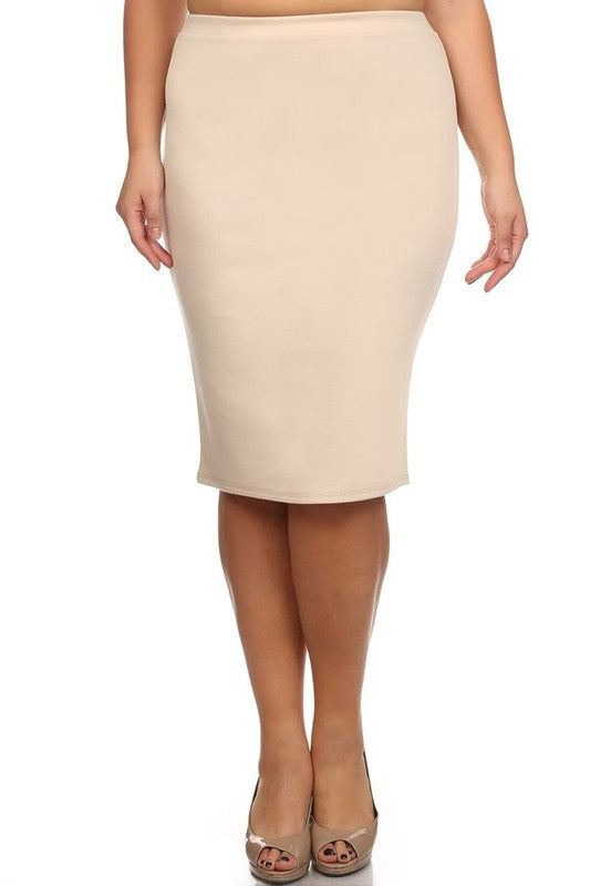 Laura Cream Pencil Style Skirt