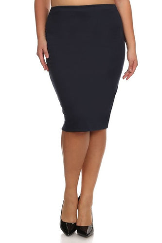 Laura Navy Pencil Skirt