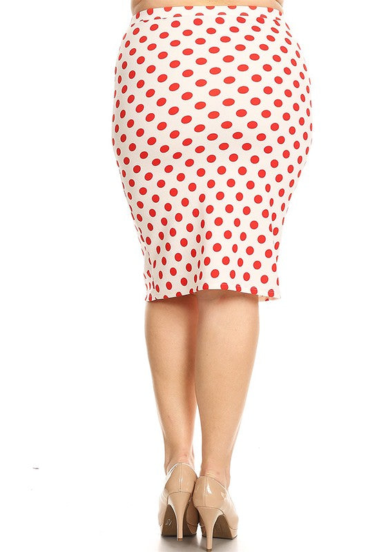 1b969dedec Laura Red and White Dot Pencil Skirt – The King's Daughter Boutique