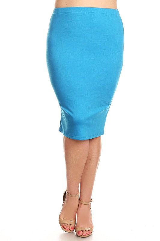 Laura Turquoise Pencil Skirt