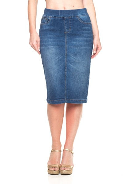Debbie Jean Skirt-Medium Wash