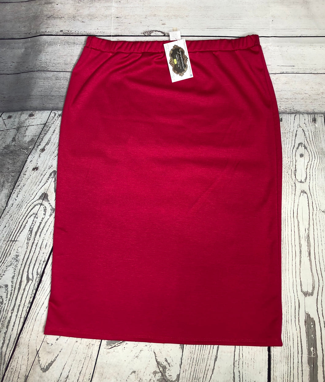 Laura Hot Pink Pencil Style Skirt
