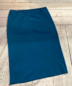Laura Blue-Teal Pencil Style Skirt