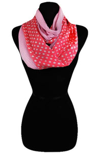 Polkadot & Stripes Scarf-Assorted Colors