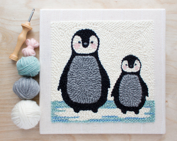 New in the Shop: Punch Needle Penguin Pattern & Kit