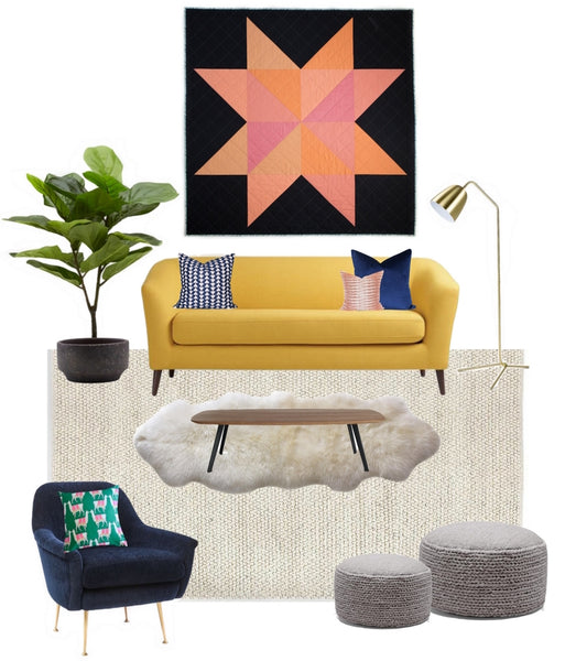 Yellow Sofa Coral Star