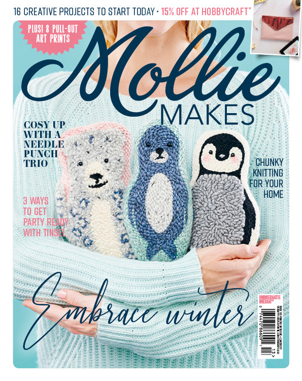 Mollie Makes Cover- Punch Needle Animal Trio