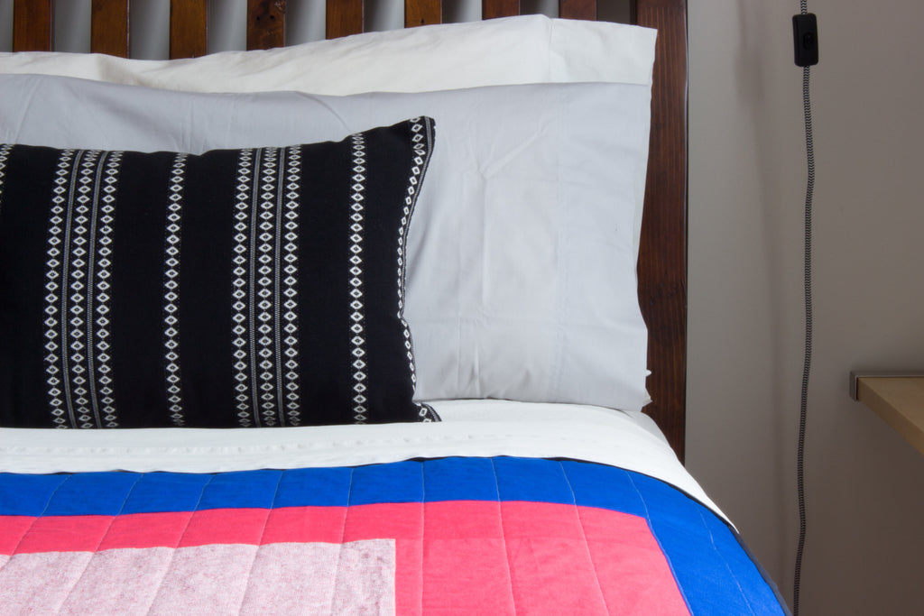 colour block quilt bedding