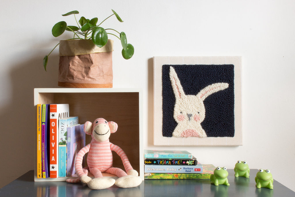 Punch Needle Bunny - Nursery Art
