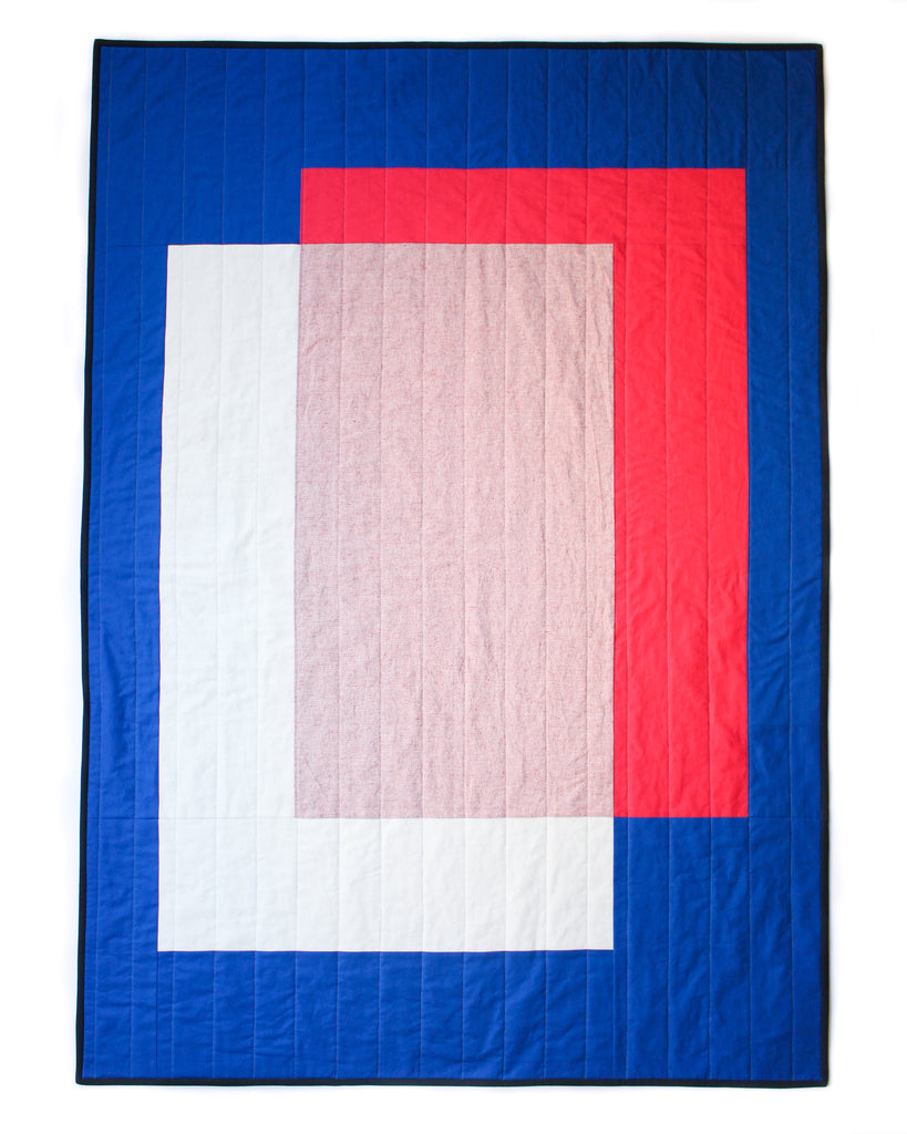modern quilt- colour block quilt #1