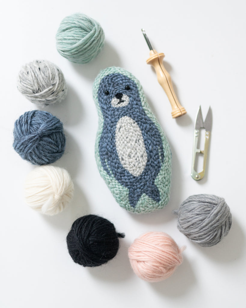 Punch Needle Winter Animals Pattern (PDF Download)