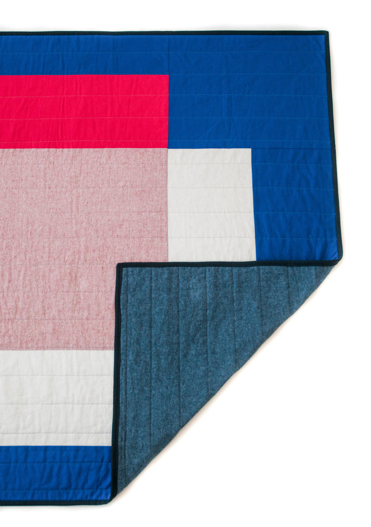 colour block quilt #1