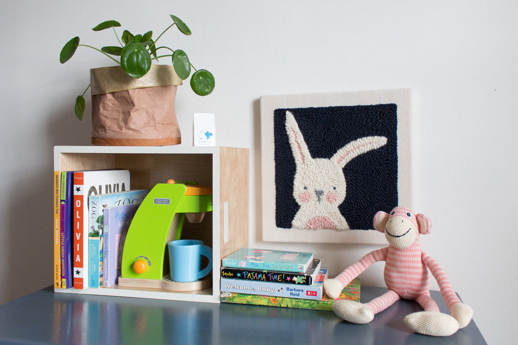 Punch Needle Bunny- Kids Room Nursery