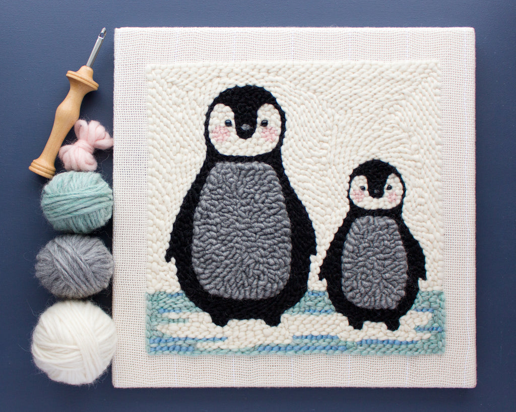 Punch Needle Penguin Pattern (PDF Download)
