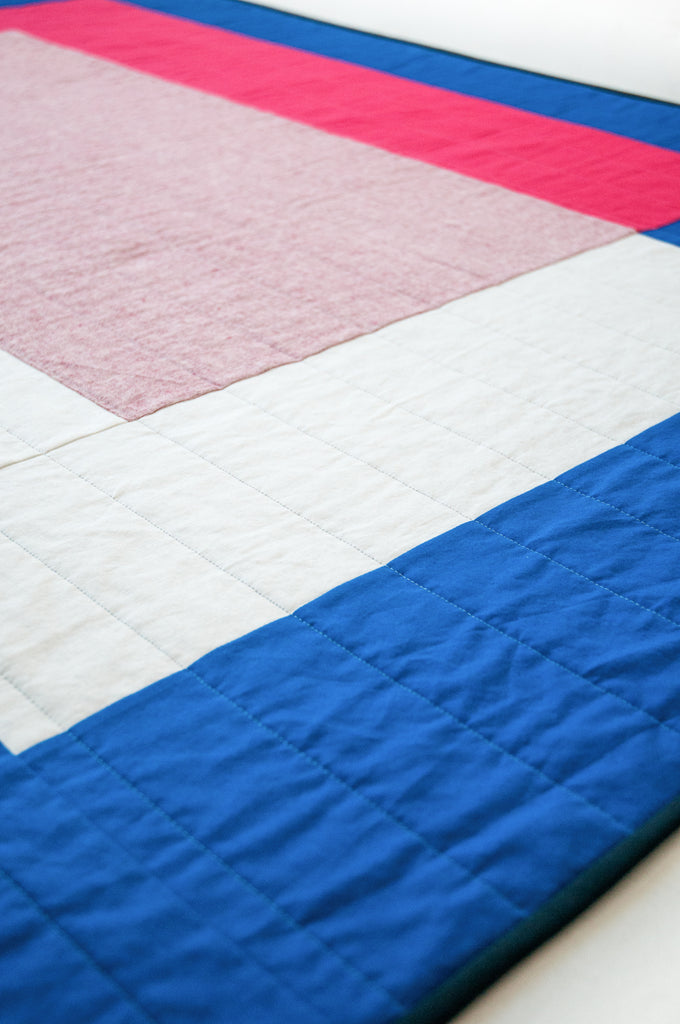 patchwork colour block quilt