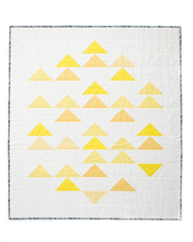 yellow geese quilt