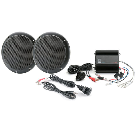 Poly-Planar MP3-KIT-AB MP3 Input-Speaker-Amp Kit - Black [MP3-KIT-AB]